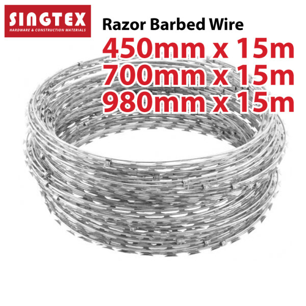 [READY STOCK] Razor Barbed Wire   Concertina Razor Barbed Wire For Plantation and Security   Dawai Duri Dusun