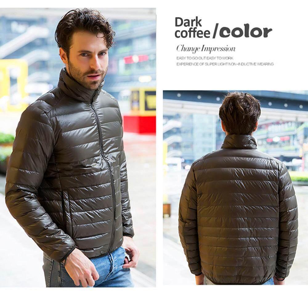 2562 ลงเสื้อแจ็คเก็ตผู้ชายฤดูหนาวพกพาอุ่น 90% เป็ดสีขาวลง Hooded Man Coat
