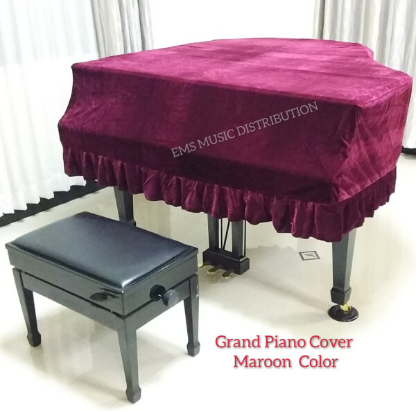 GRAND PIANO COVER Length 150cm Maroon Red Malaysia