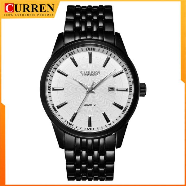 CURREN New Watches Fashion Simple style Calendar Casual Business Men Wristwatch Full Steel Quartz Male Clock Waterproof Watch 8052 Malaysia