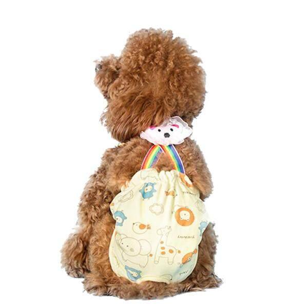 Chó Tã Có Thể Giặt Có Thể Tái Sử Dụng Vệ Sinh Pantie Chó Bông Tã với Suspender cho Nữ Chó XL