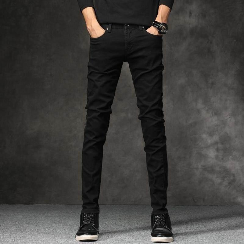 Pria Celana Panjang Hitam Lurus Celana Jeans Pria Kasual Celana Tide Musim Gugur dan Musim Dingin Celana Panjang Baru