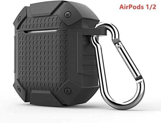 Cho Airpods Pro Trường Hợp Armor Chống-Mùa Thu, Tai Nghe Bluetooth Không Dây Cho Apple Ốp Airpods Pro/2/1 Ốp Móc Đa Năng Chống Rơi