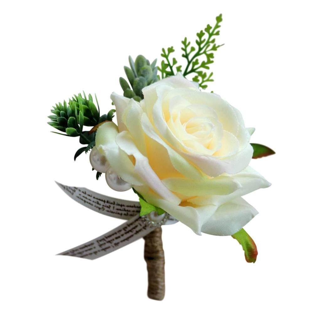52fc7dae7b704 Loviver Romantic Wedding Rose Flower Corsage Groom Best Man Boutonniere  Party Decoration