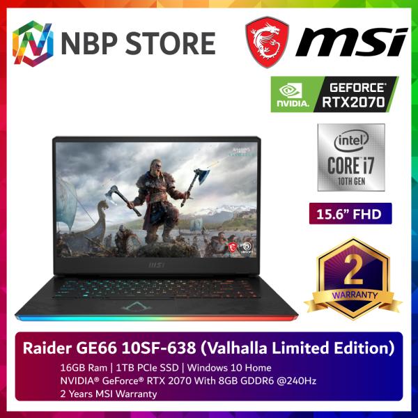 MSI Raider GE66 10SF-638 (Valhalla Limited Edition) 15.6 FHD Gaming Laptop ( i7-10875H, 16GB, 1TB SSD,RTX2070 8GB, W10 ) Malaysia