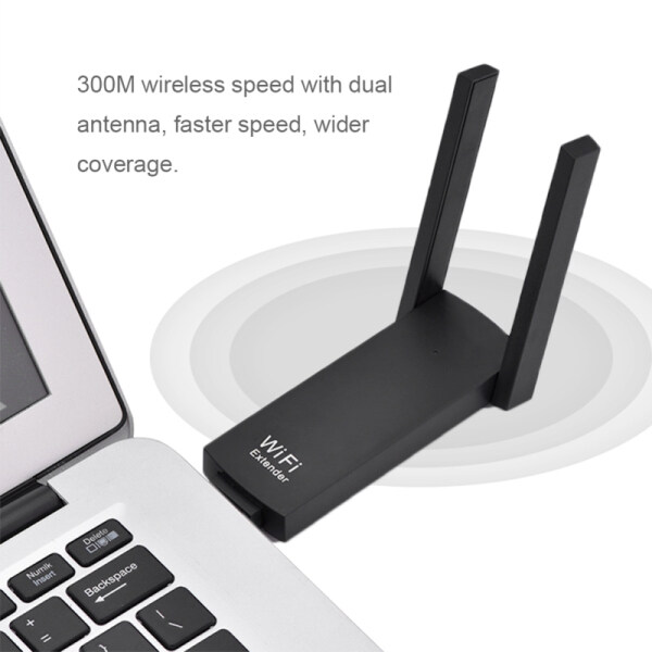 Bảng giá Xách Tay 300M Ăng Ten Kép USB Wifi Thiết Bị Khuếch Đại Phạm Vi Tín Hiệu Bộ Lặp Cho Bộ Định Tuyến Không Dây AP Khuếch Đại Phong Vũ