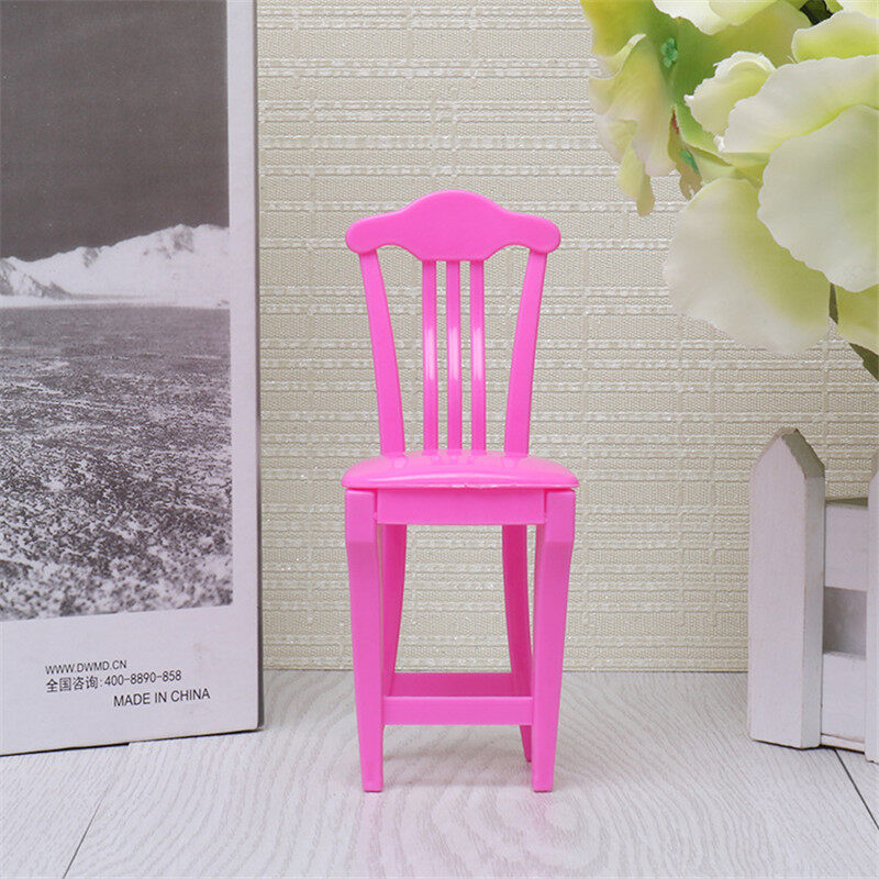 Wardrobe Dressing Table Chair Doll Closet Princess Bedroom Miniature Furniture Doll House Accessories For Dolls Girl Kids