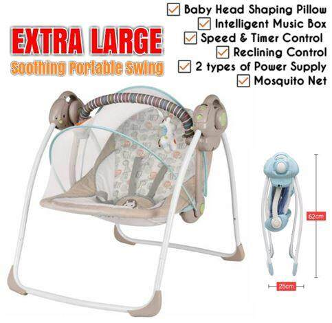 9c454ab21e0 EXTRA LARGE Baby Soothing Portable Swing