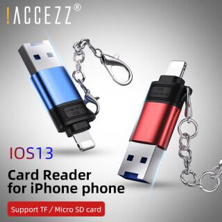 Accezz Micro SD Card Đọc Thẻ TF Thẻ Nhớ 2 Trong 1 USB2.0 SD Chiếu Sáng Cho Apple CardReader Cho iPad iPhone IOS 13 Máy Tính TF Đầu Đọc OTG Adapter thumbnail