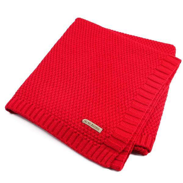 100% Organic Cotton Knitted Baby Blanket for Boys Girls Kids Singapore