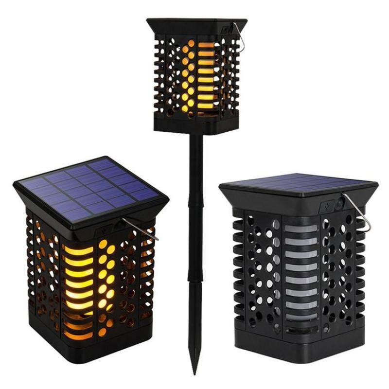 Mỗi Năng Lượng Mặt Trời Đèn Hình Ngọn Lửa Ngoài Trời Đèn LED Chống Nước Cảm Biến Trang Trí Cảnh Quan Đèn Cho Vườn Sân Bên Cho Các Bên, Ánh Sáng Hoặc Trang Trí Ngày Lễ