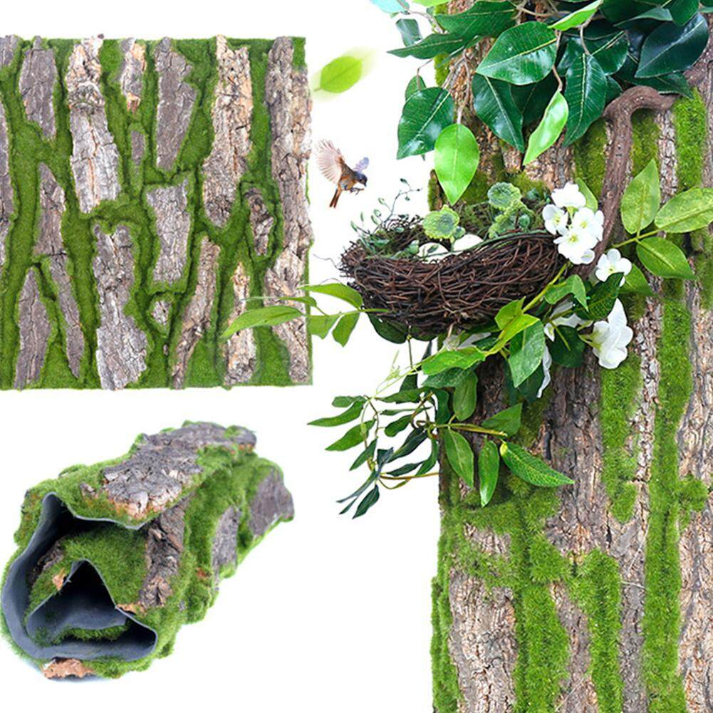30*50cm Bark Decorative Pipe Sewer Column Decorative Artificial Bark Decoration False Bark Moss Landscaping Decoration Decorative Bark