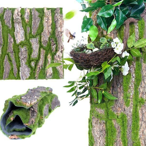 30*50cm Bark Decorative Pipe Sewer Column Decorative Artificial Bark Decoration False Bark Moss Landscaping Decoration Decorative Bark