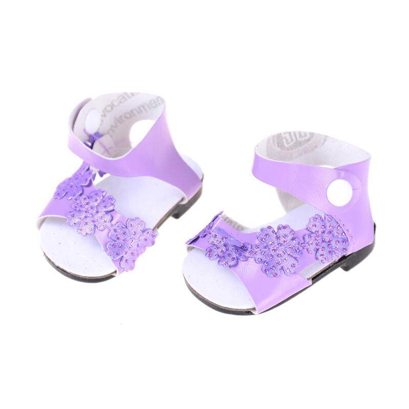 21f58c09e690 Purple For 18 Inch American Girl Doll Shoes for 43CM Reborn Baby Doll  Sandals