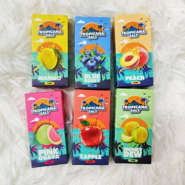 [READY STOCK] Tropicana SAlt  15ml Perisa Blueberry Ice/Mango Ice/Honeydew Ice For Pod System Kit Malaysia