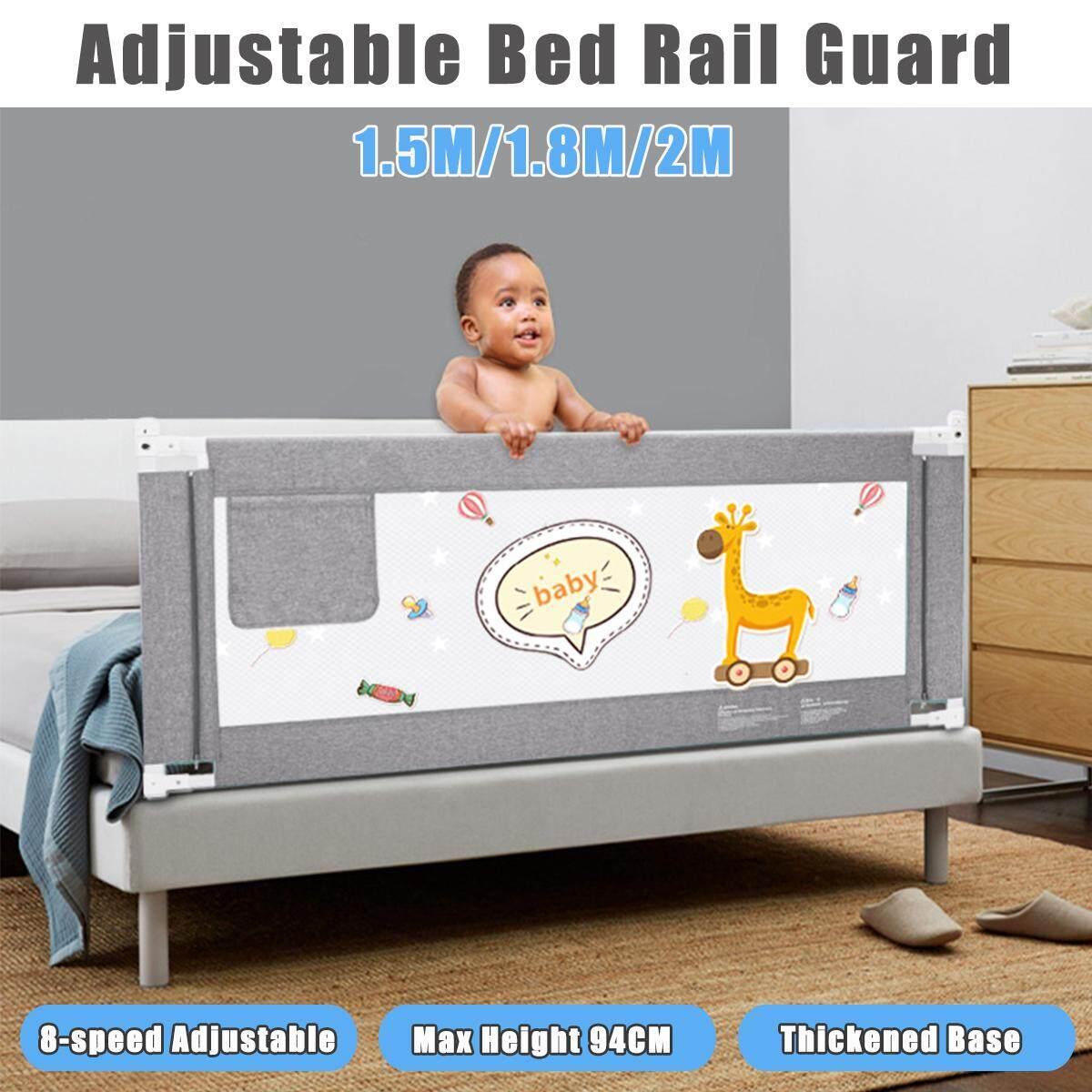 1.5M /1.8M /2M 1Pcs Gray Kid Child Bedguard Safety Toddler Bed Sleep Rail Guard Giá Giảm