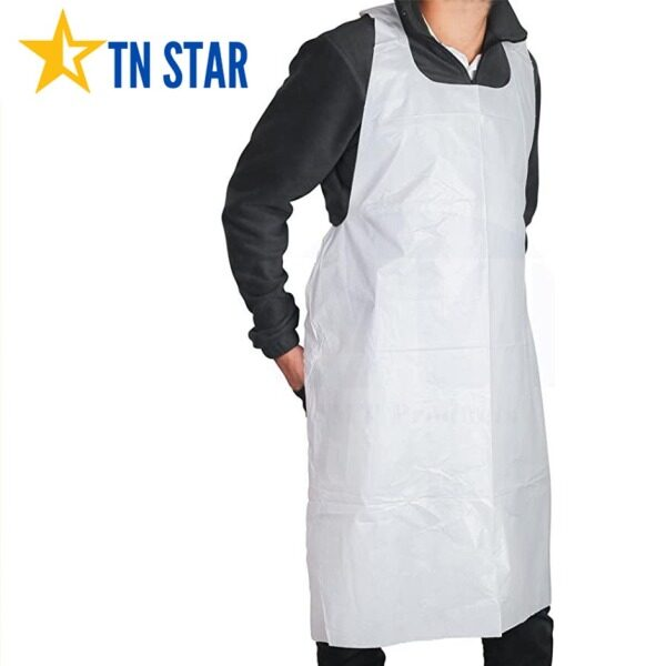 Disposable PPE Plastic Apron (Normal Cutting) Free Size 100pcs