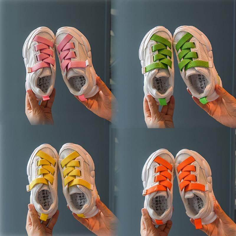 ins super fire children's sports shoes boys running shoes autumn new girls mesh breathable casual shoes tide