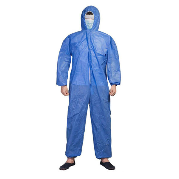 caosu® Unisex Disposable Laboratory Hospital Hood Isolation Gown Protection Coverall