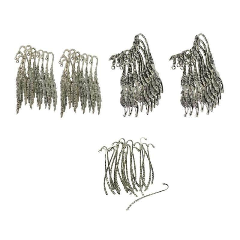 BolehDeals 60pcs Tibetan Silver Beading Feather Mermaid Line Bookmark Loop DIY Making Malaysia