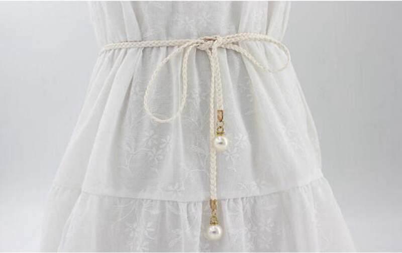 Thắt Lưng Nữ Ngọc Trai Dây Bện Dây Thắt Lưng Nữ Mặc Váy Dây Thắt Lưng By Yarmoire.