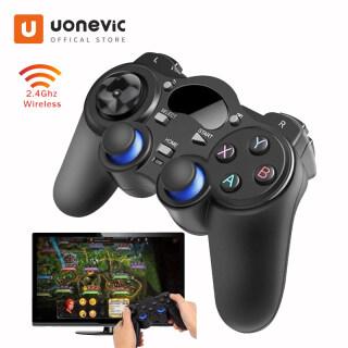 Máy Chơi Game Uonevic, Tay Cầm Chơi Game Bộ Điều Khiển Trò Chơi Không Dây 2.4G Gamepad Phù Hợp Với Android Bàn TV Box TV Thông Minh Cho PC PS3 thumbnail