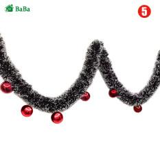 Dây Trang Trí Giáng Sinh BaBa 2M, Dải Kim Tuyến Trang Trí Cửa Nhà Hình Cây Thông Noel Có Nơ Thắt