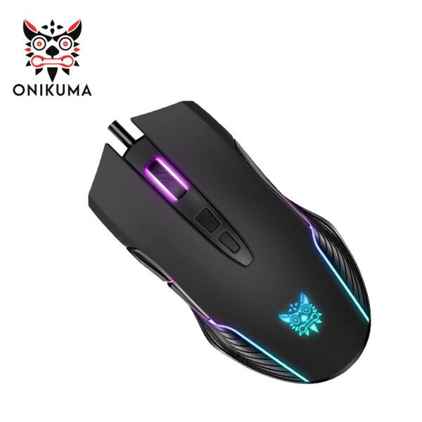 ONIKUMA CW905 RGB Gaming Mouse Wired, USB Optical Computer Mice with RGB Backlit, 6 Adjustable DPI Up to 6400, Ergonomic Gamer Laptop PC Mouse with 7 Programmable Buttons for Windo Vista Linux-Pink / Black