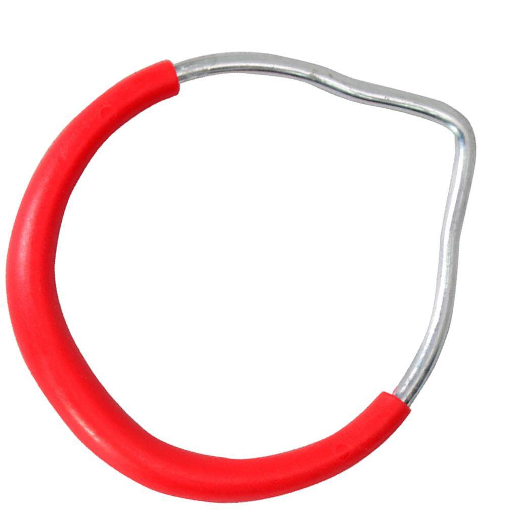 MagiDeal Kids Outdoor Gymnastic Ring Playground Accessories DIY Replacement Red