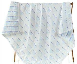 Muslin Chăn Trẻ Em Gạc 6 Lớp Cho Trẻ Em Chăn Bông Chống Đá Mềm Khăn Quấn Trẻ Sơ Sinh Khăn Tắm Trẻ Em, 110 110Cm thumbnail