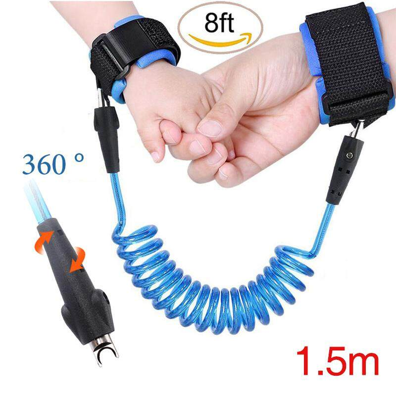 1.5M Adjustable Anti-Lost Safety Wrist Link Harness Strap Band Rope for Baby Kids Child Toddler