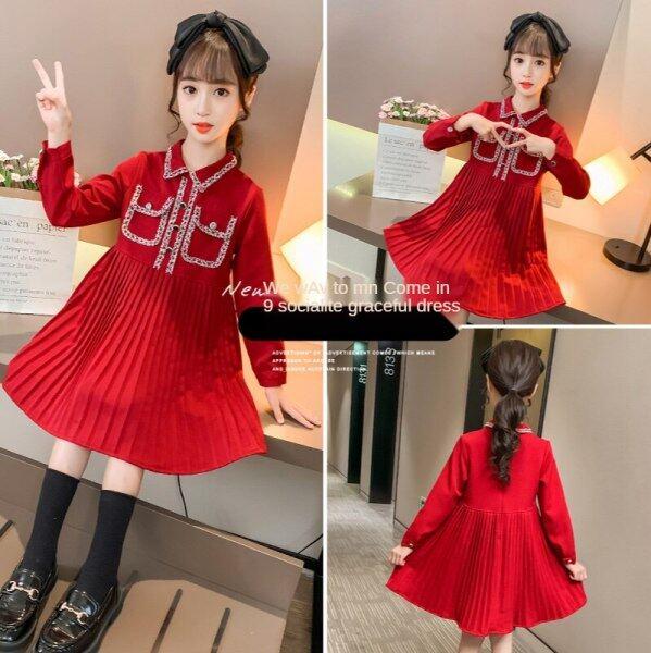 Nơi bán Váy Bé Gái Thời Trang Mới, Đầm Công Chúa Nhỏ Tay Dài Thơm Cho Trẻ Em Thanh Lịch Tươi Mới Và Thời Trang