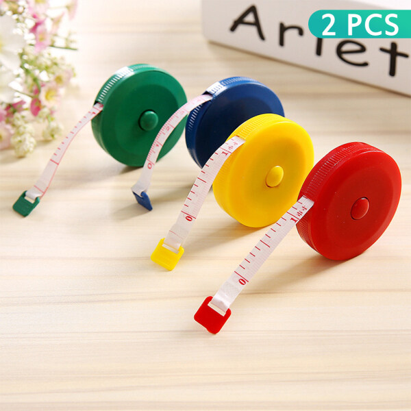 【Fast delivery】2 PCS Soft ruler measuring three circumference ruler measuring meter ruler high precision small cute measuring Mini soft leather waist circumference ruler