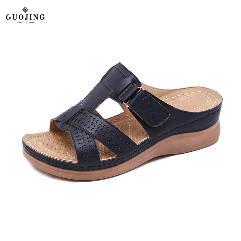 Giá bán Quách Fashion【cod】 Nữ Cao Cấp Chỉnh Hình Mở Mũi Giày Sandal Vintage Chống Trơn Trượt Thoáng Khí Cho Mùa Hè Còn Hàng