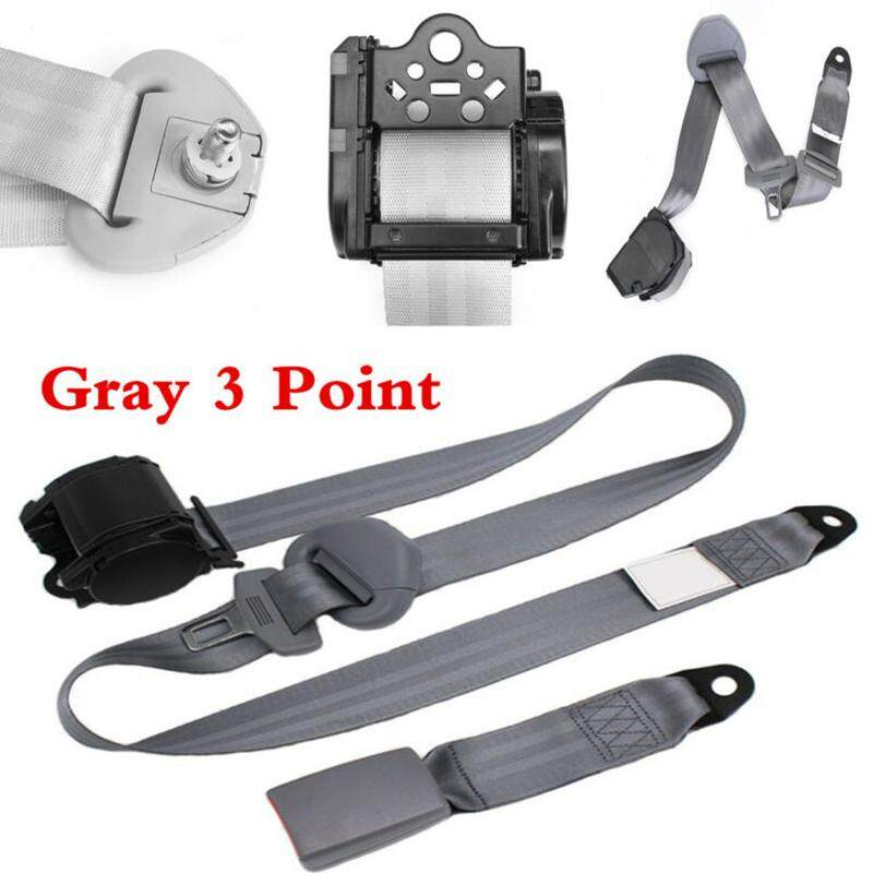 Heavy-duty Nylon Extra Long Adjustable 3 Point Type Seat Belt Lap /&Diagonal Belt
