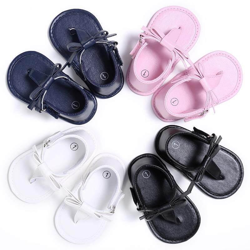 Bayi Musim Panas Sandal Jepit Sandal Pita Bayi Gadis Sol Lembut Sepatu Prewalker