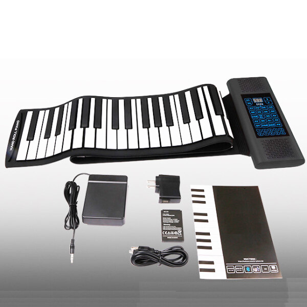 Nature Star 88 Keys Rechargeable Keyboard Roll Up Piano With Microphone Speaker Musical Instrument Electric Accessory Black Supports USB MIDI Output Music Children Kids Gift Malaysia