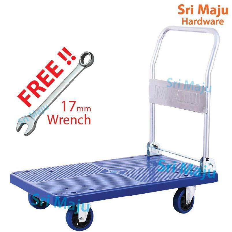 MAJU 150kg Quality Foldable PVC Platform Hand Truck Trolley Troli Stor Kedai