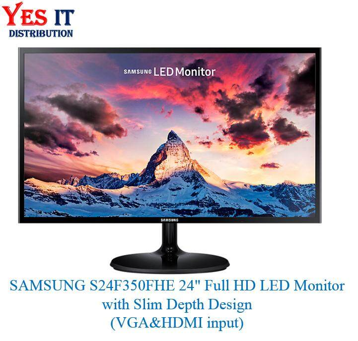SAMSUNG S24F350FHE 24inch Full HD LED Monitor with Slim Depth Design (VGA & HDMI input) Malaysia