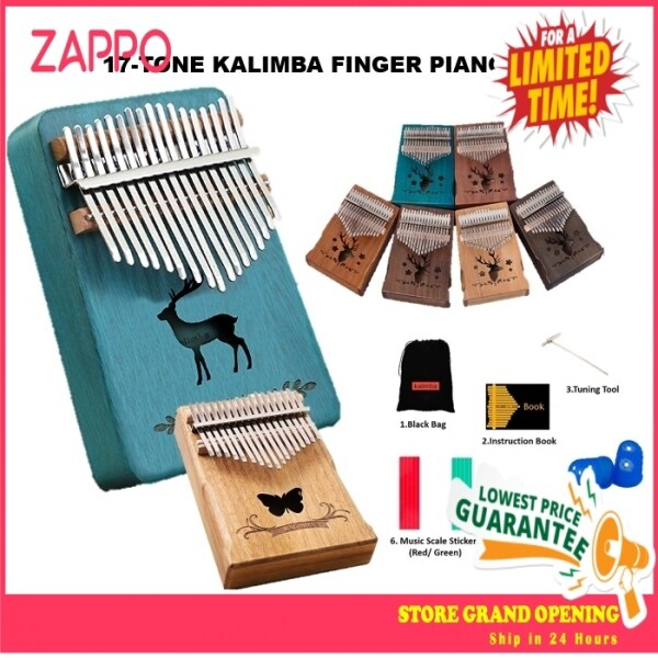 ZAPPO 17 keys Kalimba Thumb Piano Acoustic Finger Piano Music Instrument Malaysia