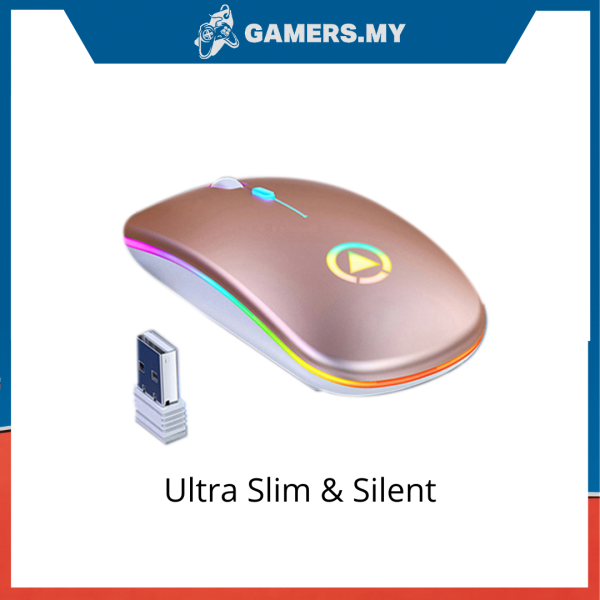 A2 Rechargeable Wireless Silent Mouse Malaysia