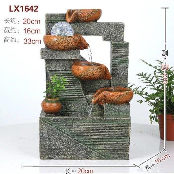 LX1642 WATER FOUNTAIN FENG SHUI FEATURE HOME DECO
