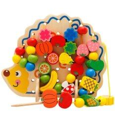 82pcs Happy Cherry Wooden Fruits Baby Vegetables Kids Lego Kids Beads Toys Hedgehog Board Toddlers By Crc Mall.