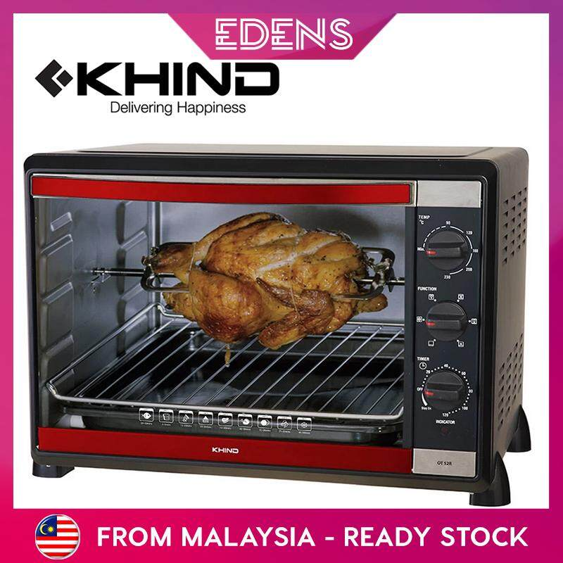 KHIND Oven Toaster 52Liters with Rotisserie Convection Fan Multiple Heater Selection Function (OT52R) - Fulfilled by Edens