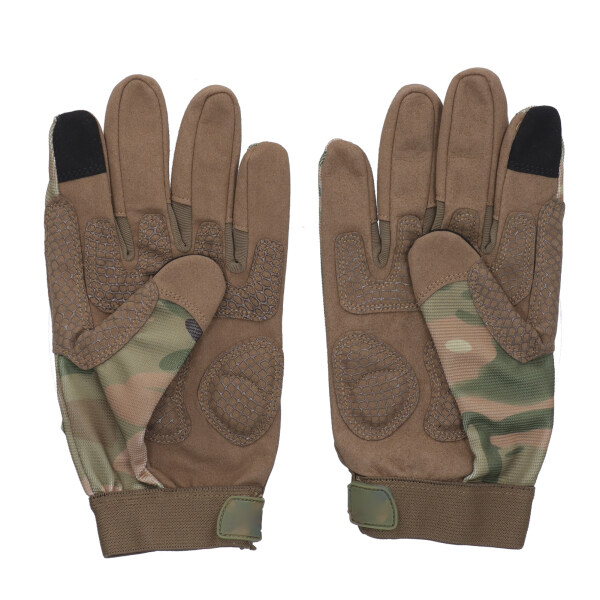 Pair Safety Gloves Touch Screen Full Finger Outdoor Windproof for Motorcycle Motorbike Riding Racing