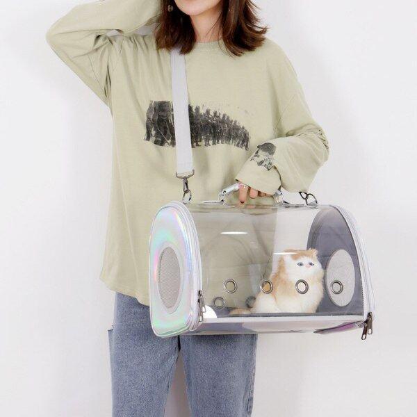 Túi Mèo Laser Trong Suốt, Vật Nuôi Ra Khỏi Túi Mèo Lồng, Ba Lô Di Động Cho Chó Túi Con Chó Mèo Ba Lô Túi Xách Sản Phẩm Vật Nuôi