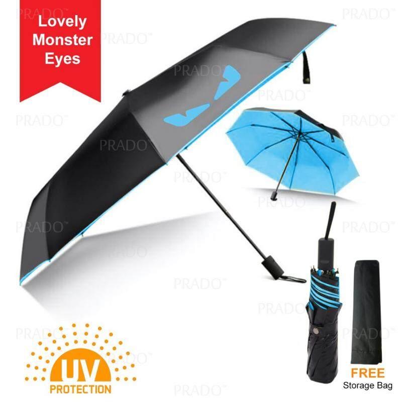 f7d2237181c9f PRADO Portable Mini Lovely Monster Eyes Anti UV Sun Block Windproof Rain  Umbrella 210T Portable Compact