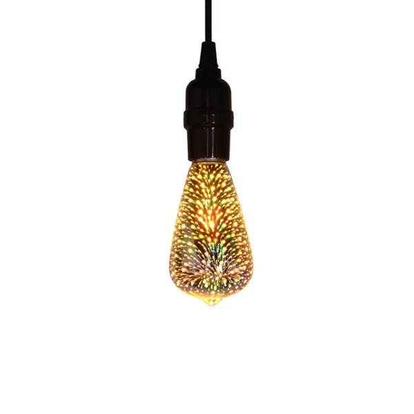 Bóng Đèn Edison Led Pháo Hoa 3D Nhiều Màu Đèn LED Thủy Tinh Quán Bar Trang Trí Giáng Sinh Mới Lạ