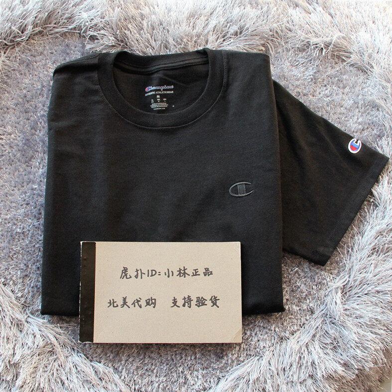 Hoa Kỳ Mua Áo Thun Cotton Logo Hai Nhãn Thêu Champion Champion Back Cho Nam Và Nữ, Áo Sơ Mi Hai Dây Tay Ngắn