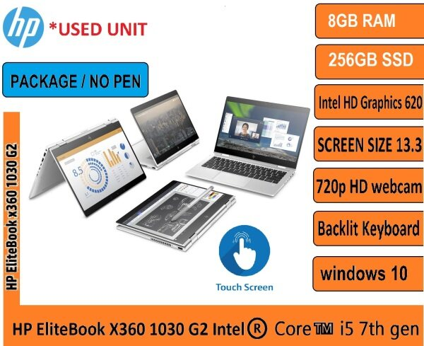 HP EliteBook X360 1030 G2 - 13.3 Intel®️ Core™️ i5 7th gen Processor With Keyboard (OPTIONAL FOR PEN) BEST FOR ONLINE Malaysia